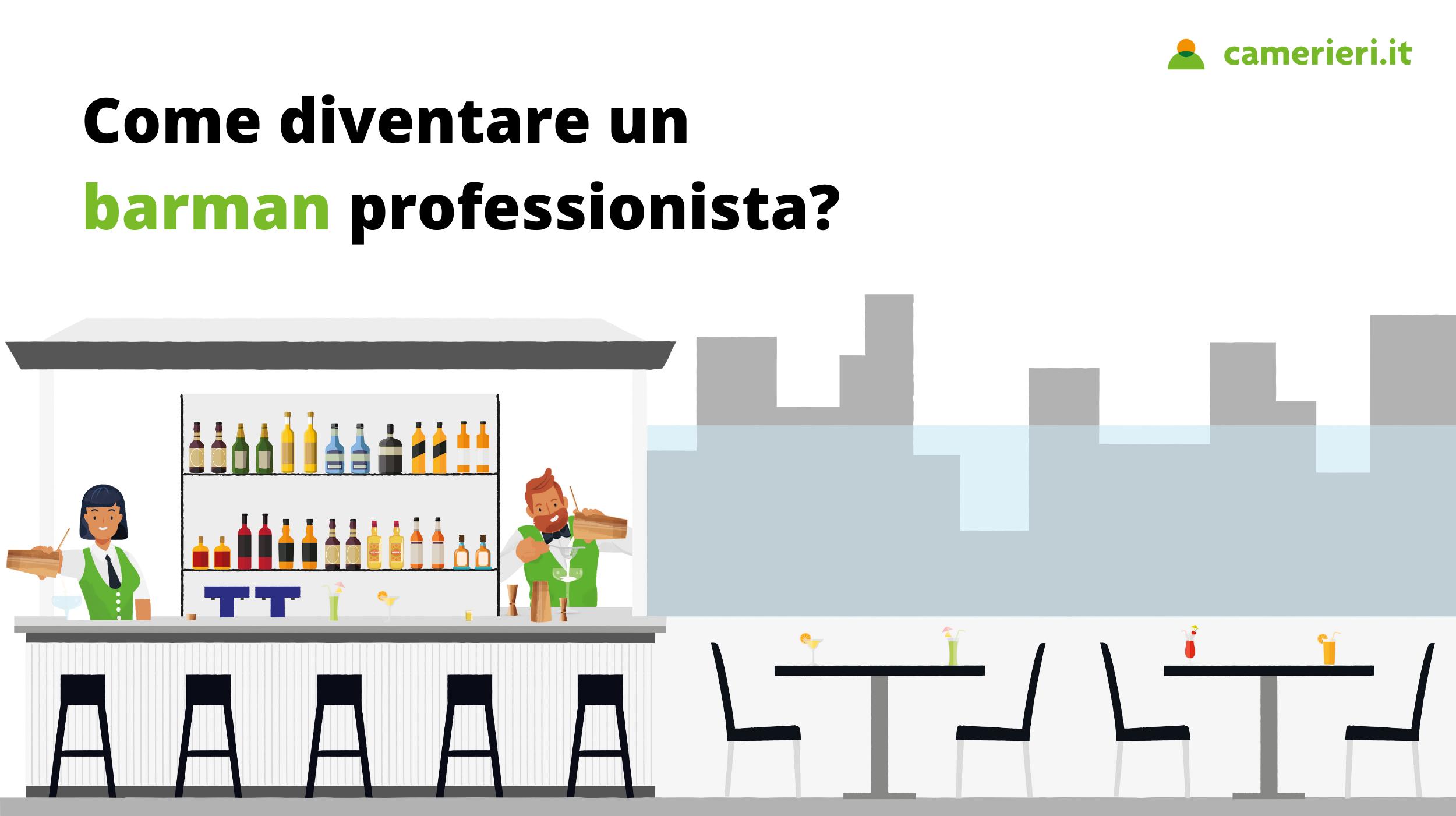 come diventare un barman professionista